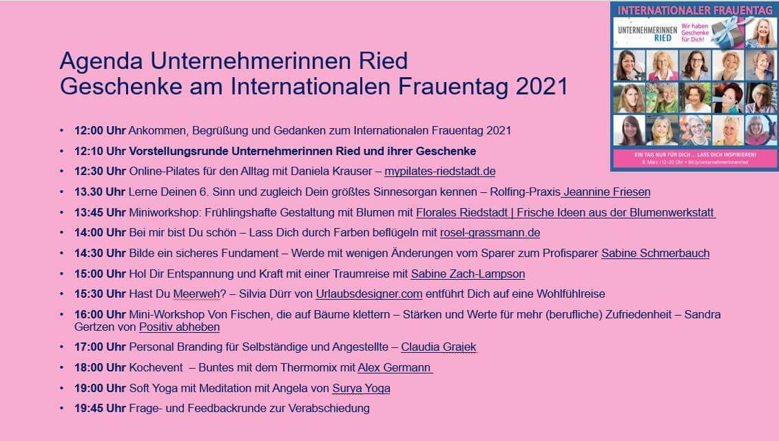 Unternehmerinnen Ried internationaler Frauentag 2021
